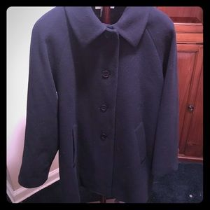 Preston & York wool navy winter coat